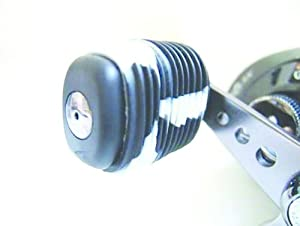 Reel Grip 1148 Reel Handle Cover, Black and White Tie Dye Finish