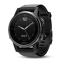 Garmin fēnix 5s, Premium and Rugged Smaller-Sized Multisport GPS Smartwatch, Sapphire Glass, Black