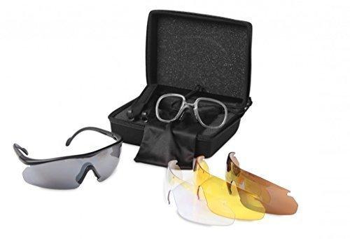 BSA / GAMO Ligero PROTECTORES Gafas de sol 4 JUEGOS DE Intercambiable Lentes & caso. UV400 Protección para rifle aire , Tiro al plato y Juego Tiro