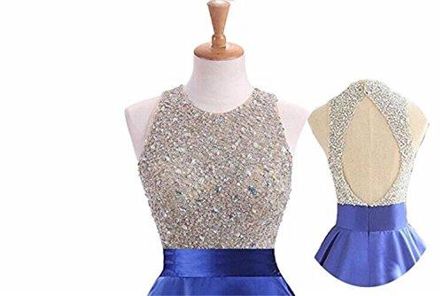Robes De Bal En Satin De Cristal Pour Les Femmes De Centre Commercial Brl Longues Robes De Bal Perlées Partie Zp352 De Hotpink