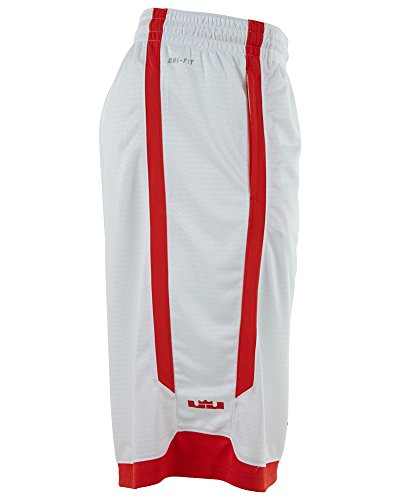 best service 71627 9a55b Mens Nike Lebron Relentless Basketball Shorts White Crimson Red 596475-100  Size Large