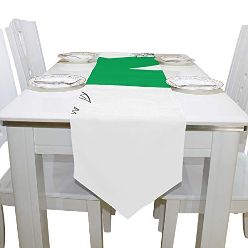 Menedo Table Cover Excellent Cool Design Letter K Non-Slip Table Runner Farm Table Cloths for Kitchen Dining Room Restaurant Wedding Table Covers Bar Coasters 13x90 Inch