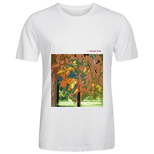 Brian Eno Lux 80s Album Cover Mens Crew Neck Custom Tee White