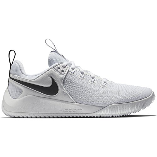 Nike Women's Zoom Hyperface 2 Volleyball Shoes (7.5 B(M) US, White/Black)