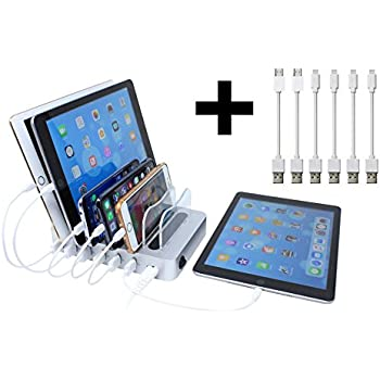 Hercules Tuff Docking Station | Multiple Devices 6 port station | Cables included (mostly Apple)