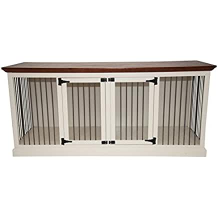 Eagle White Dog Crate Credenza