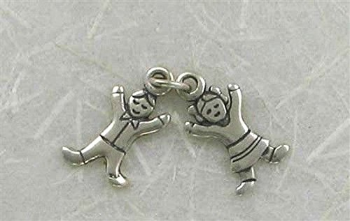 - Sterling Silver Movable Boy & Girl Charm Jewelry Making Supply, Pendant, Charms, Bracelet, DIY Crafting by Wholesale Charms