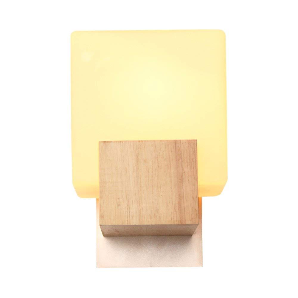BXJ シンプルなledカントリーノベルティウォールランプ燭台用ウッド竹ウォールライトベッドサイドベッドルーム廊下リビングルームロフトスタディレストランE27に適し B07R8JN288