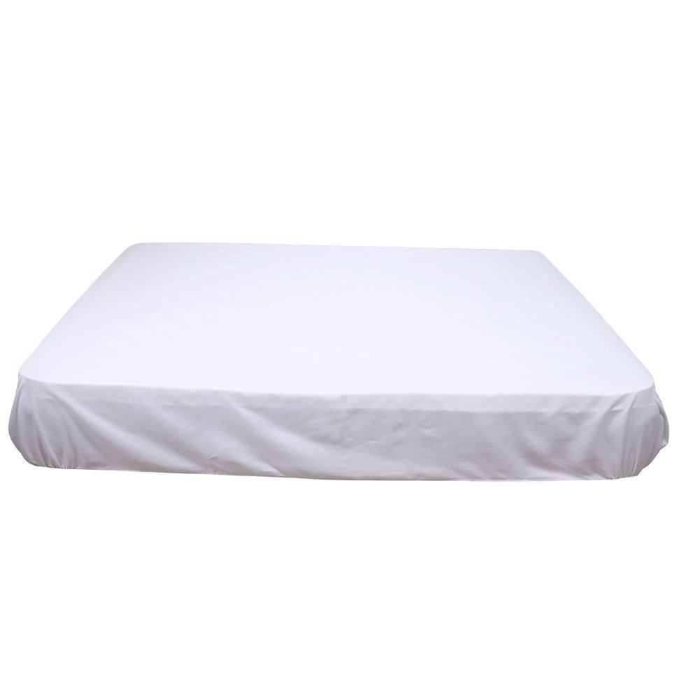 Mattress Pad Protector Washable Polyester Elastic Thread Design Mattress Cover Antibacterial Hypoallergenic Bedspreads, 60 x 80 inch Zerodis