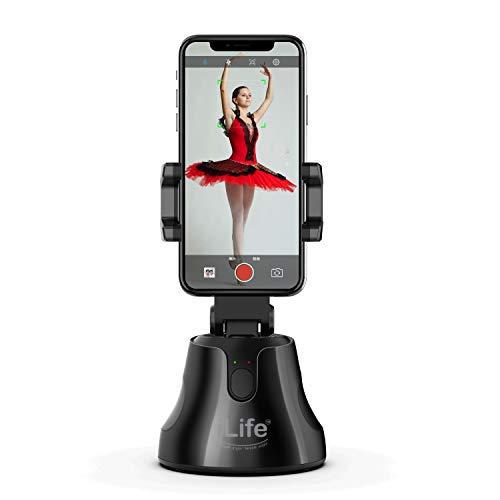 iLife Selfie 360°Rotation Auto Face Object Tracking Smart Shooting Camera Phone Mount, Vlog Shooting Smartphone Mount Ho