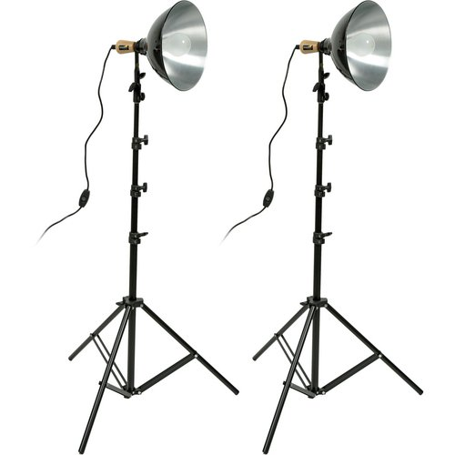 Impact Tungsten 10'' Reflector Two-Floodlight Light Kit by Impact