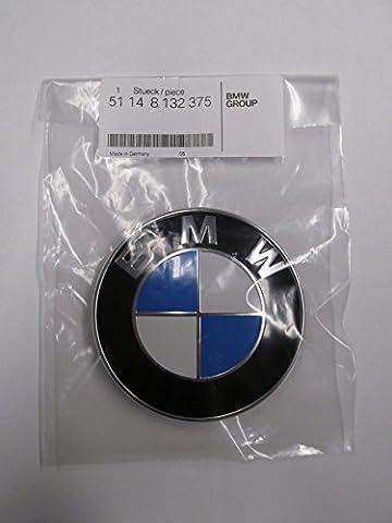 BMW E64 E38 E45 X1 X3 X5 X6 Z3 Z4 HOOD EMBLEM 82mm Germany OEM BMW 51148132375 - Bmw 525i 2009