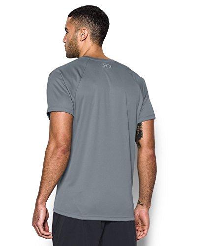 Under Armour Men's HeatGear Run Short Sleeve T-Shirt, Steel /Reflective, X-Large by Under Armour (Image #1)