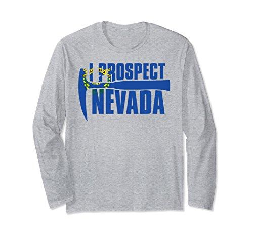 Unisex I Prospect Nevada Rock Hound Long Sleeve Shirt 2XL Heather Grey (Long Sleeved Hound T-shirt)