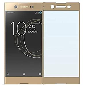 Tempered Glass Screen Protector For Sonny Experia_XZ1 (Gold)