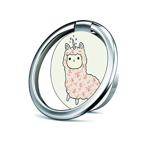 Llama Stands - Cell Phone Ring Holder Stand, Phone Grip Car Mounts 360 Degree Rotation Finger Ring Stent Compatible iPhone X 8 7 6 Plus, Samsung Galaxy and Tablets -I Love Llamas