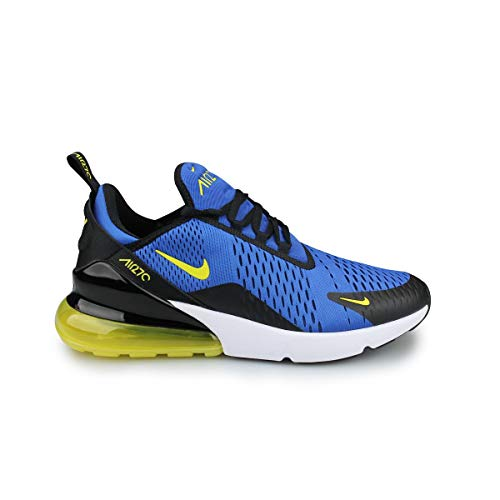 Nike Mens Air Max 270 Running Shoes (9.5 M US, Game Royal/Dynamic Yellow) (Mens Nike Air Max Modern Flyknit Running Shoes)