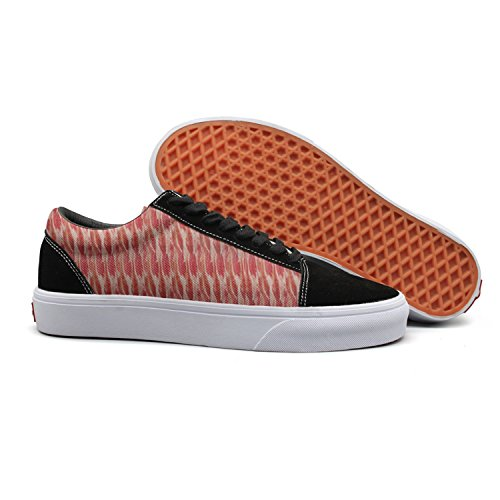 Bacon, Bacon, Bacon Mens Fashion Canvas Deck Shoes Low Top Vintage Cloth Shoes For Women from Feenfling