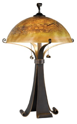 Kenroy Home 20085CHC Santa Fe Table Lamp, Chocolate - Online Tiffany Co And Buy