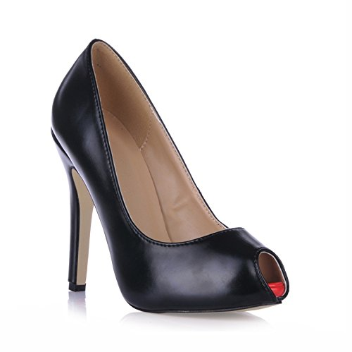 Fine Femmes Les La De Seul Poisson Réformateur Talon Noire Par Grandes Chaussures Pointe Sens L'automne Le Black Haut Banquet IaSwOBX