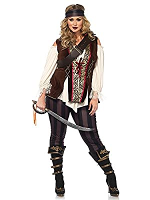 Leg Avenue Women's Plus Size Captain Blackheart Costume