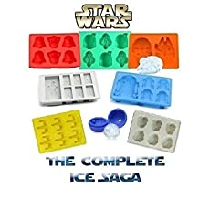 Complete Star Wars Saga Silicone Molds for Star Wars Lovers By ToyzNGadgetz Ice Cube Trays and Candy Molds for Baking and Making Cool Drinks (Set of 8)