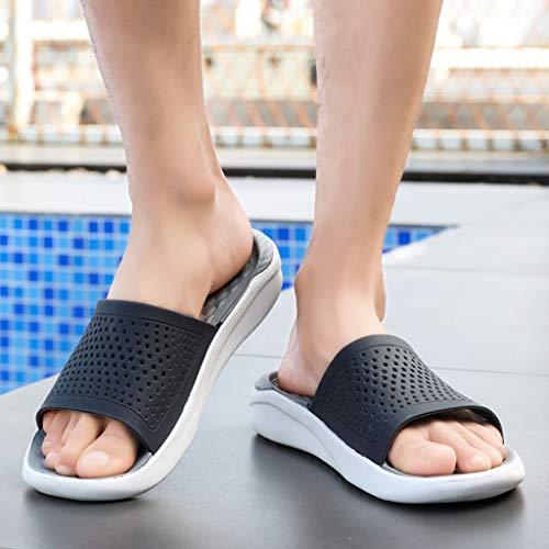 Sandali Infradito Roma Ragazzo Toe Nero Bianco Ihengh Casual Elegante Spiaggia Uomo Nuovo Grigio Scarpe Moda Peep Estivo Regalo Shoes Trasparenti Pantofola Man 2019 qUf8qg