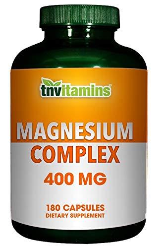 TNVitamins Magnesium Complex 400 Mg (180 Capsules)