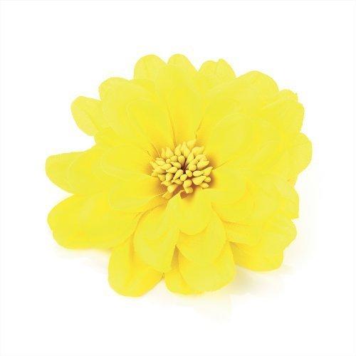 Yellow Flower Hair Elastic & Clip Size 10CM FLOWER by B&F