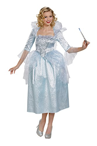Womens Cinderella Fairy Godmother Costumes (UHC Disney Princess Cinderella Movie Deluxe Fairy Godmother Outfit Fancy Costume, L (12-14))