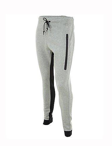 TT&NIUZAIKU Damen Freizeit Sexy Mittlere Hüfthöhe Mikro-elastisch Jogginghose Hose, Baumwolle Leinen Winter Herbst Solide, grau, l