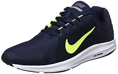 Nike Men's Downshifter 8 Shoes, Light Carbon, Volt-Obsidian-Black, 10 US