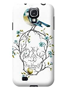 Xpeen Phone Cases White Skull With Bird And Flower Pattern Phone Case Cover For Samsung Galaxy S4