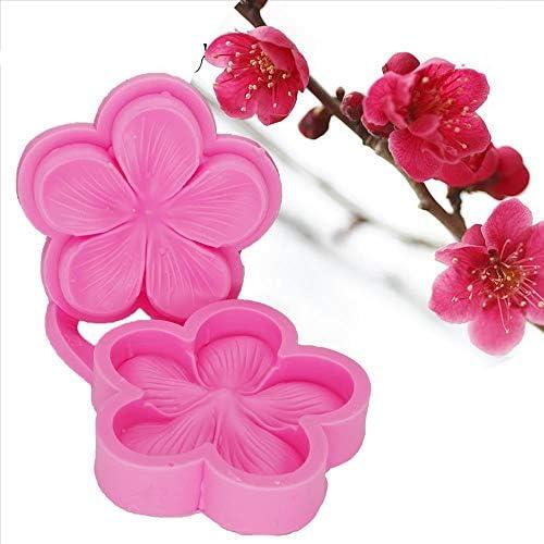 Yikuaigang 梅 sugarcraft シリコーン型の花フォンダン金型ウエディングケーキデコレーションツールチョコレート型 D1302 (Color : A)
