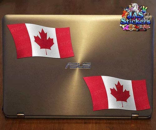 ST071CA/_1 Country Small Twin Vinyl Sticker Pack For Laptop Caravans Trucks /& Boats JAS Stickers/® Canada Flag Car Decals