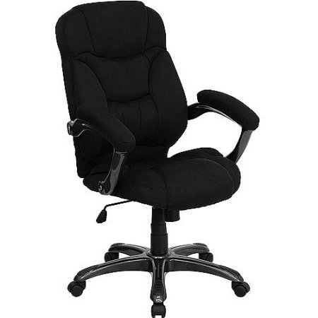Super Soft Microfiber Fabric Executive High Back Office Desk Chairs (Black)