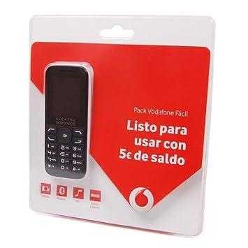 Tarjeta SIM Vodafone Facil Prepago con 5 € y movil Alcatel ...