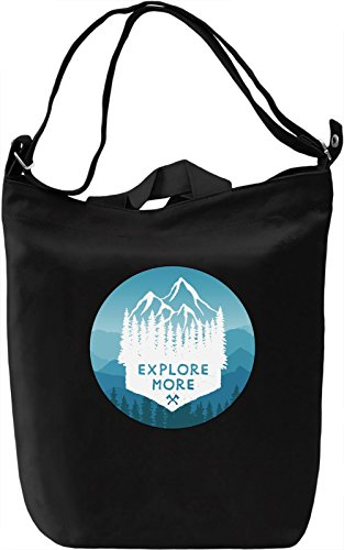 Explore More Borsa Giornaliera Canvas Canvas Day Bag| 100% Premium Cotton Canvas| DTG Printing|