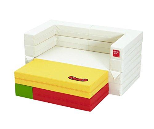 Design Skin Kids Tetris Block Sofa, Transformable Nap Mat, Desk, Table, Play Space (Designs Furniture Settee)