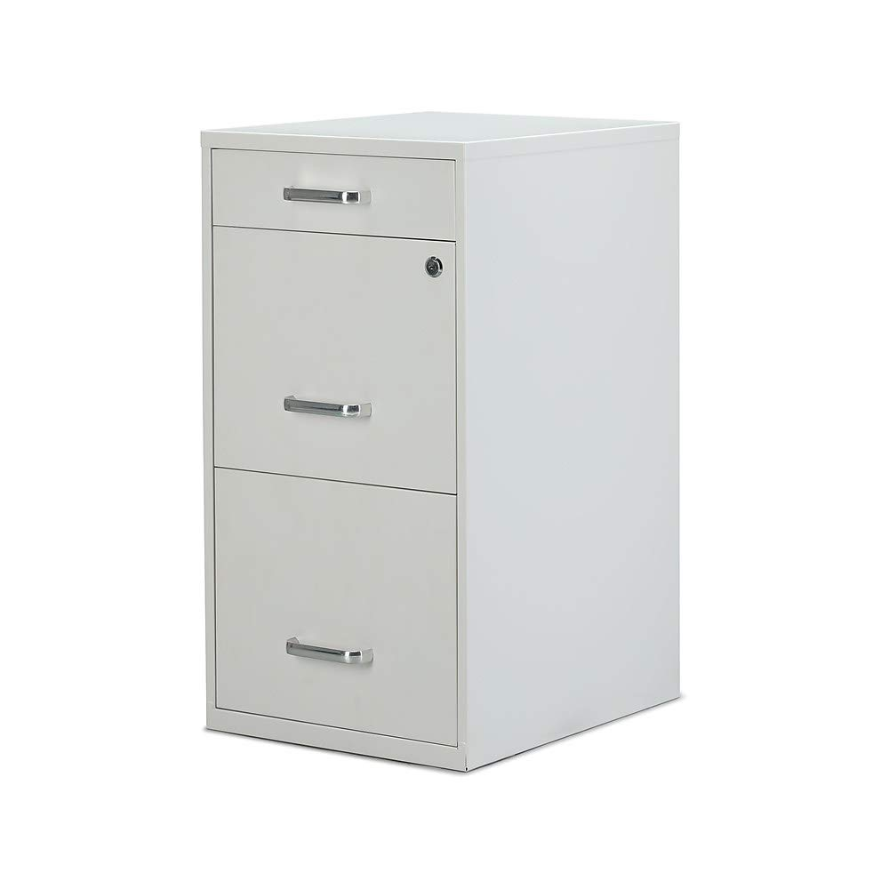 3-Drawer Vertical Utility File Cabinet, White, Letter, 18'' D (52144)