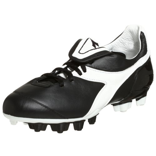 Diadora Men's Brasil Axeler RTX 14 Soccer Cleat,Black/White,8.5 M