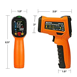 Digital Laser Infrared Thermometer,ZOTO Non Contact Temperature Gun Instant-read -58 ?to 1472?with LED Display K-Type Thermocouple for Kitchen Cooking BBQ Automotive and Industrial PM6530D Thermometer