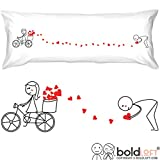 BoldLoft All My Love for You Body Pillow Cover- Boyfriend Gifts, Husband Gifts, for Him, Valentines Presents, His and Hers Gifts, Gifts for Couples, Matching Couple Gifts