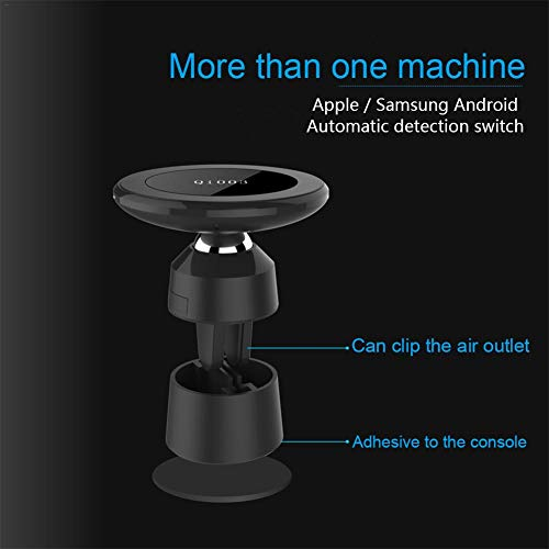 Ivyode Q3 Magnetic Car Holder Mobile Phone Fast Wireless Car Charger  Magnetic Charging Pad Car Mount on Dashboard and Air Vent Phone Holder for