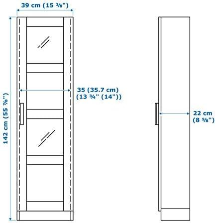 bianco taglia 15/3//8/x 55/7//8 Ikea vetrina