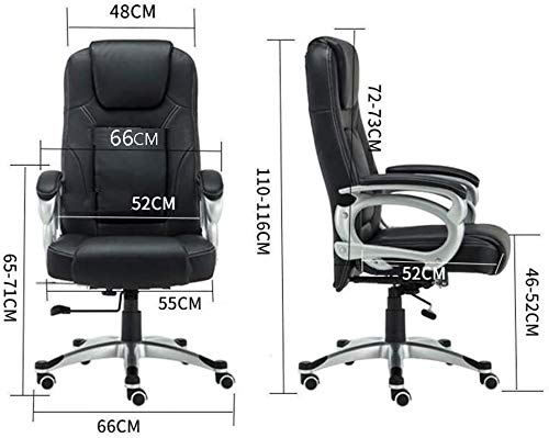 Fåtöljar GSN stolar med armstöd justerbar höjd 350 – pund kapacitet svängbar ergonomisk verkställande spel svängbar stol stol vadderad kontorsstol (storlek: svart)