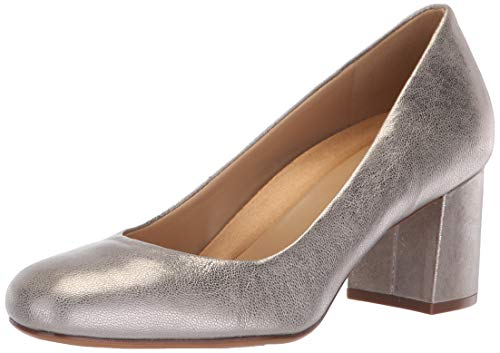 Naturalizer Women's Whitney Pump, Silver, 7 M US