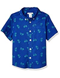 Amazon Essentials Boys' Short-Sleeve Poplin/Chambray Shirt