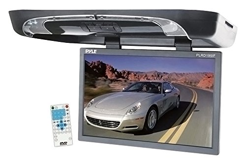19'' Flip-Down LCD Monitor with Built-in DVD/SD Card/USB Pla