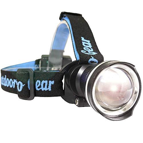 Lighthouse Beacon 1000 SUPER BRIGHT LED Headlamp - Best and Brightest Spotlight Headlight - Perfect Zoomable Camping light- Hunting Headlamp - Caving Flashlight - Running Headlamp (BLACK)